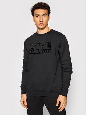 KARL LAGERFELD KARL LAGERFELD Bluză Crewneck 705062 512950 Negru Regular Fit