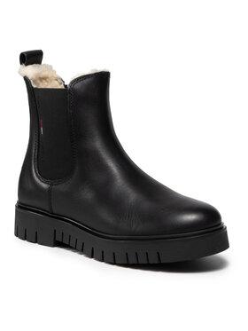 Tommy Jeans Tommy Jeans Sztyblety Warmlined Chelsea Boot EN0EN01572 Czarny