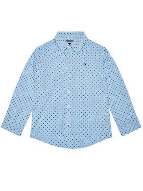 TOMMY HILFIGER TOMMY HILFIGER Hemd Mini Flag KB0KB06181 M Blau Regular Fit