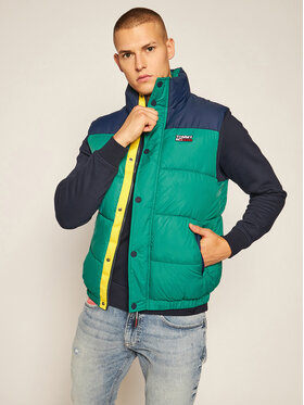 Tommy Jeans Tommy Jeans Gilet Corp DM0DM09380 Verde Regular Fit