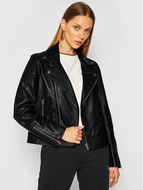Calvin Klein Calvin Klein Kožená bunda Essential K20K202057 Černá Regular Fit