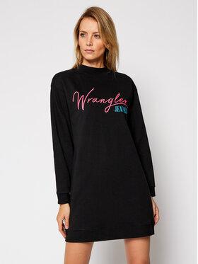 Wrangler Wrangler Плетена рокля High Neck W9P2HR100 Черен Relaxed Fit