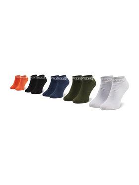 Guess Guess Súprava 5 párov členkových pánskych ponožiek U94G17 ZZ02T r. OS Farebná