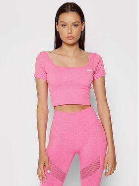 Guess Guess Bluzka O1BA16 ZZ04M Różowy Slim Fit