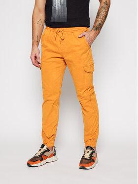 Champion Champion Pantaloni din material 215194 Galben Custom Fit