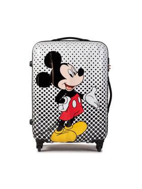 American Tourister American Tourister Średnia Twarda Walizka Disney Legends 64479-7483-1CNU Biały