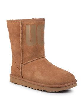 Ugg Ugg Обувки W Classic Short Ugg Rubber Logo 1108230 Кафяв