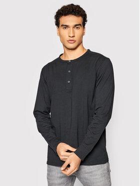 Selected Homme Selected Homme Marškinėliai ilgomis rankovėmis Baker 16080133 Juoda Regular Fit