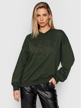 NA-KD NA-KD Majica dugih rukava 1100-004348-0086-003 Zelena Relaxed Fit