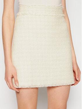 Pinko Pinko Mini sukně Lirico PE 21 BLK01 1G15N9 8440 Bílá Straight Fit