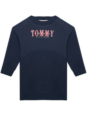 Tommy Hilfiger Tommy Hilfiger Rochie de zi Graphic Sweat KG0KG05926 M Bleumarin Regular Fit