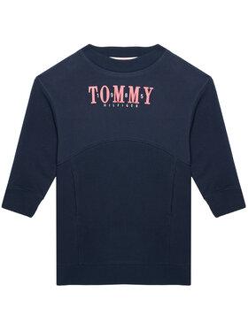 Tommy Hilfiger Tommy Hilfiger Sukienka codzienna Graphic Sweat KG0KG05926 M Granatowy Regular Fit