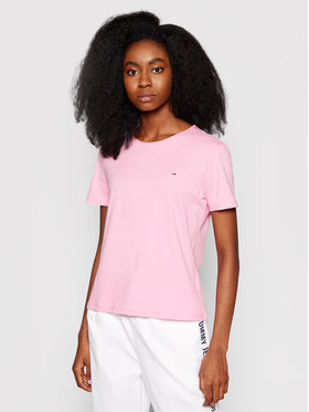 Tommy Jeans Tommy Jeans Póló Tjw Jersey DW0DW09194 Rózsaszín Slim Fit