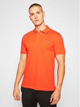Lacoste Lacoste Polokošeľa PH4012 Oranžová Slim Fit
