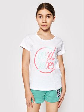 4F 4F T-Shirt HJL21-JTSD010 Biały Regular Fit