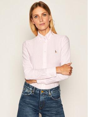 Polo Ralph Lauren Polo Ralph Lauren Košile Oxford 211664416 Růžová Slim Fit