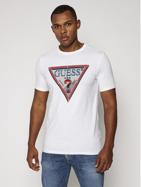 Guess Guess T-shirt M0BI58 J1300 Blanc Slim Fit