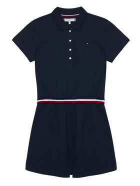 TOMMY HILFIGER TOMMY HILFIGER Každodenní šaty Global Stripe Polo KG0KG05278 M Tmavomodrá Regular Fit
