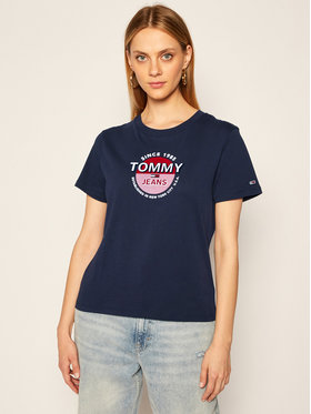 Tommy Jeans Tommy Jeans T-shirt Circle Logo DW0DW08930 Blu scuro Regular Fit