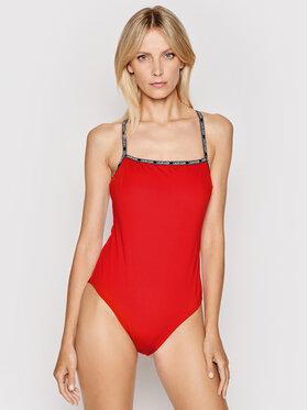 Calvin Klein Swimwear Calvin Klein Swimwear Купальник Logo Tape KW0KW01343 Червоний