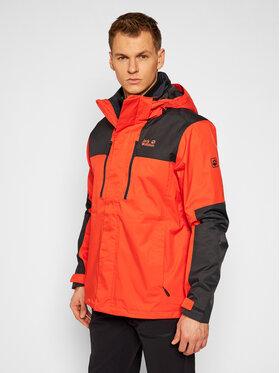 Jack Wolfskin Jack Wolfskin Multifunkčná bunda Jasper 1108392 Oranžová Regular Fit