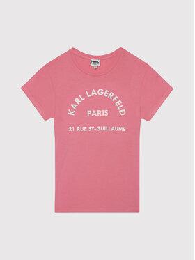 KARL LAGERFELD KARL LAGERFELD Тишърт Z15T59 M Розов Regular Fit