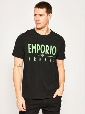 Emporio Armani Emporio Armani Тишърт 3H1T90 1J0AZ 0999 Черен Regular Fit