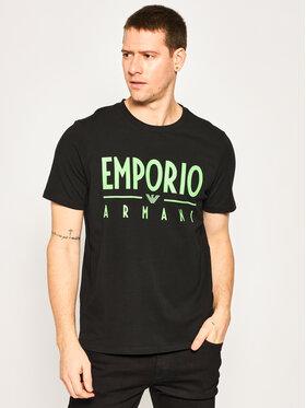 Emporio Armani Emporio Armani Tricou 3H1T90 1J0AZ 0999 Negru Regular Fit