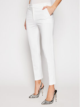 Pinko Pinko Чино панталони Bello PE 21 BLK01 1G15LF 5872 Бял Regular Fit