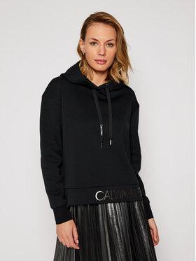 Calvin Klein Calvin Klein Pulóver Ls Logo K20K202389 Fekete Regular Fit