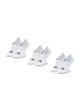 Calvin Klein Calvin Klein Sada 3 párů pánských ponožek 100001756 Bílá