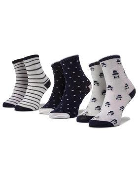 Mayoral Mayoral Комплект 3 чифта дълги чорапи детски 9243 Тъмносин