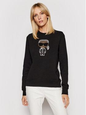 KARL LAGERFELD KARL LAGERFELD Sweatshirt Ikonik Rhinestones Karl 210W1822 Noir Regular Fit