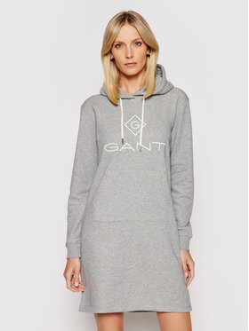 Gant Gant Trikotažinė suknelė Lock Up 4204356 Pilka Regular Fit