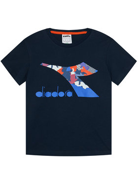 Diadora Diadora T-Shirt Cable 102.176488 Granatowy Regular Fit