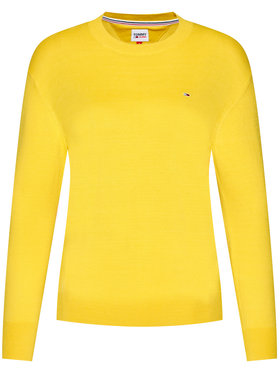 Tommy Jeans Tommy Jeans Svetr Soft Touch Crew DW0DW08853 Žlutá Regular Fit