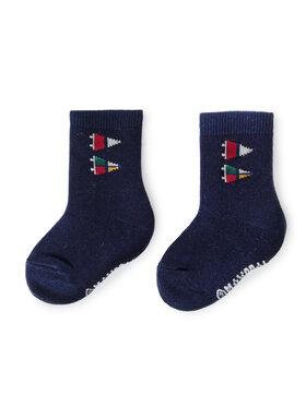 Mayoral Mayoral Sada 3 párů dětských vysokých ponožek 10676 Tmavomodrá