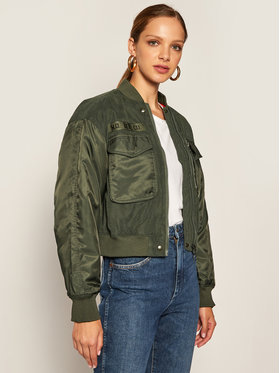 Lee Lee Яке бомбър Sateen Bomber L56EMMNX Зелен Relaxed Fit