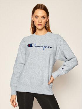 Champion Champion Pulóver Script Logo 113795 Szürke Regular Fit