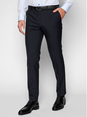 Oscar Jacobson Oscar Jacobson Pantalon de costume Damien 537 8515 Bleu marine Slim Fit
