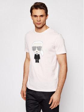 KARL LAGERFELD KARL LAGERFELD T-shirt Crewneck 755061 511251 Ružičasta Regular Fit
