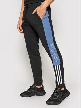 adidas adidas Spodnie dresowe Essential Colorblock GK9020 Czarny Regular Fit