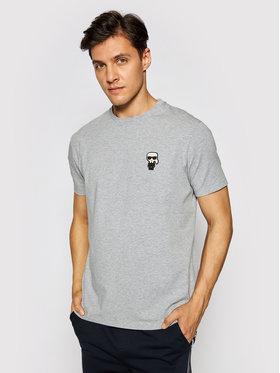 KARL LAGERFELD KARL LAGERFELD T-shirt Crewneck 755025 511221 Gris Regular Fit