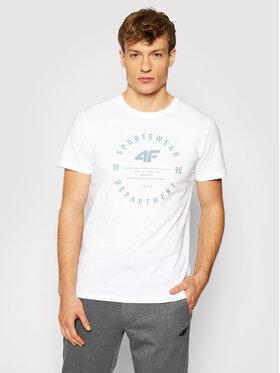 4F 4F T-Shirt H4L21-TSM030 Biały Regular Fit