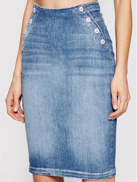 Guess Guess Jeans suknja Gwenda W1GD36 D46AA Plava Slim Fit