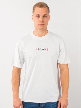 Edwin Edwin T-Shirt Aurora Ts I026752 TH442M4 267 Biały Regular Fit