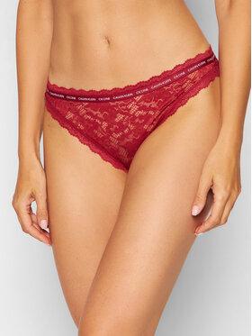 Calvin Klein Underwear Calvin Klein Underwear Klassischer Damenslip 000QF6203E Dunkelrot