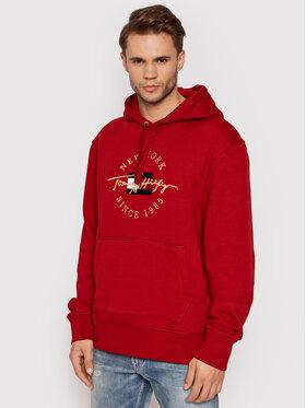 Tommy Hilfiger Tommy Hilfiger Sweatshirt Seasonal Icon MW0MW20135 Rot Relaxed Fit