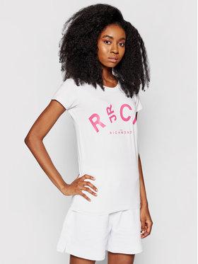 John Richmond John Richmond T-Shirt Plank UWP21209TS Biały Regular Fit