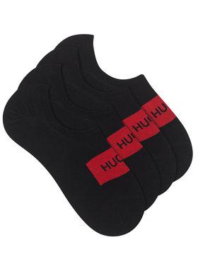 Hugo Hugo 2 pár férfi rövid szárú zokni 2P Low Cut Label Cc 50439588 Fekete
